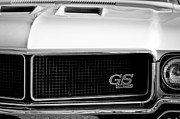 Muscle Car Framed Prints - 1970 Buick GS Grille Emblem Framed Print by Jill Reger