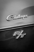 Challenger Framed Prints - 1970 Dodge Challenger RT Convertible Emblem Framed Print by Jill Reger