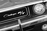 Muscle Cars Photos - 1970 Dodge Challenger RT Convertible Grille Emblem by Jill Reger