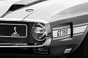 Muscle Cars Photos - 1970 Ford Mustang Convertible GT350 Replica Grille Emblem by Jill Reger