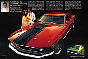 8 Track Player Posters - 1970 Ford Mustang Mach 1 Poster by Digital Repro Depot