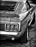 Black And White Photos Originals - 1970 Ford Mustang Mach 1 by Gordon Dean II