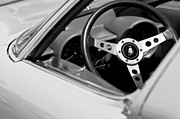 Lamborghini Prints - 1970 Lamborghini Miura S Steering Wheel Emblem Print by Jill Reger