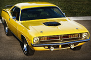 Banana Digital Art Originals - 1970 Plymouth Hemi Cuda by Gordon Dean II