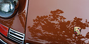 1970 Photos - 1970 Porsche 911 S 2.2 Coupe Hood Emblem by Jill Reger