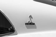Shelby Cobra Prints - 1970 Shelby Cobra GT350 Fastback Emblem Print by Jill Reger