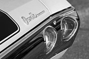Chevelle Posters - 1971 Chevrolet Chevelle Malibu SS Tail Light Poster by Jill Reger