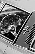 Steering Posters - 1971 ISO Grifo Can Am Steering Wheel Emblem Poster by Jill Reger