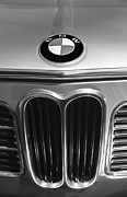 Car Photographs Framed Prints - 1972 BMW 2000 TII Touring Grille Emblem Framed Print by Jill Reger