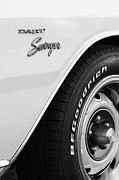 Muscle Cars Photos - 1975 Dodge Dart Swinger Emblem by Jill Reger