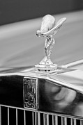 1984 Photo Framed Prints - 1984 Rolls-Royce Silver Spur Hood Ornament Framed Print by Jill Reger