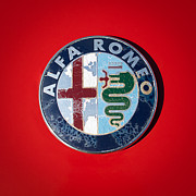 Quad Photo Posters - 1986 Alfa Romeo Spider Quad Emblem Poster by Jill Reger