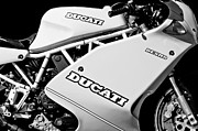 Photographs Framed Prints - 1993 Ducati 900 Superlight Motorcycle Framed Print by Jill Reger