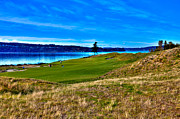 Us Open Framed Prints - #2 at Chambers Bay Golf Course - Location of the 2015 U.S. Open Championship Framed Print by David Patterson