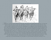 Revelation Drawings Metal Prints - 200 The Four Horsemen of Revelation Metal Print by James Robinson
