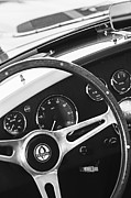 Cobra Photo Prints - 2001 Shelby Cobra Replica Steering Wheel Emblem Print by Jill Reger