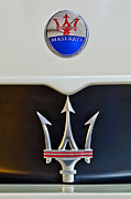 Car Photographs Framed Prints - 2005 Maserati MC12 Hood Emblem Framed Print by Jill Reger