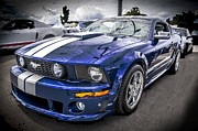 Racer Framed Prints - 2008 Ford Shelby Mustang with the Roush Stage 2 Package Framed Print by Rich Franco