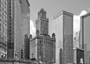 E Black Photo Prints - 35 East Wacker Chicago - Jewelers Building Print by Christine Till