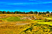 Us Open Framed Prints - #4 at Chambers Bay Golf Course - Location of the 2015 U.S. Open Championship Framed Print by David Patterson
