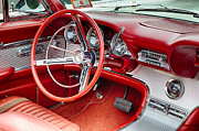 Radio Print Prints - 62 Thunderbird Interior Print by Jerry Fornarotto