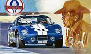 Cobra Art Framed Prints - 64 Cobra Daytona Coupe Framed Print by David Lloyd Glover