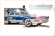Fox Digital Art - 64 Dodge by Nicholas  Grunas