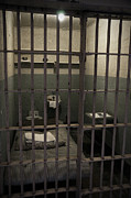 White Walls Metal Prints - A cell in Alcatraz prison Metal Print by RicardMN Photography
