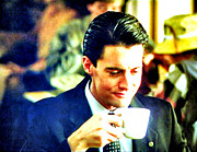 David Lynch Painting Prints - A Damn Fine Cup Of Coffee Print by Luis Ludzska