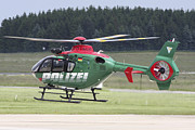 Law Enforcement Posters - A Eurocopter Ec135 Used By German Poster by Timm Ziegenthaler
