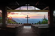 Religious Prints Photos - A Good Morning at Pretty Place by Rob Travis