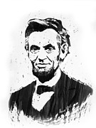 Celebrities Drawings Metal Prints - A. Lincoln Metal Print by Harry West