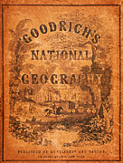 Old Map Paintings - A National Geography for Schools with a Globe Map on a New Plan New York Huntington and Savage 1845 by MotionAge Art and Design - Ahmet Asar