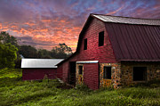 Old Barns Acrylic Prints - A New Start Acrylic Print by Debra and Dave Vanderlaan