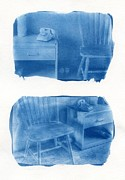 Blueprint Photo Prints - A Room of Ones Own Print by Jane Linders