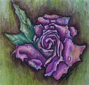 Linda Simon Wall Decor Prints - A Rose    Print by Linda Simon