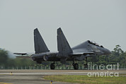 Featured Metal Prints - A Sukhoi Su-30mkm Of The Royal Metal Print by Remo Guidi