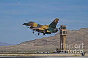 Air Traffic Control Tower Posters - A U.s. Air Force F-16 Taking Poster by Scott Germain