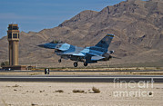 Traffic Control Prints - A U.s. Air Force F-16c Taking Print by Scott Germain