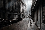 Paris Digital Art Prints - A Walk apart Print by David Fox