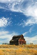 Cloudscapes Posters - Abandoned Farm House Poster by Kevin Miller