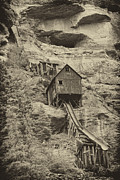Mancave Photos Posters - Abandoned Mine Poster by Melany Sarafis