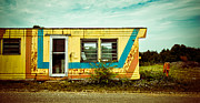 Abandoned Acrylic Prints - Abandoned Yellow Trailer Acrylic Print by Amy Cicconi