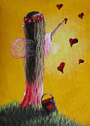 Guardian Angel Paintings - Abella Fairy by Shawna Erback by Shawna Erback