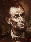 Slavery Painting Metal Prints - Abraham Lincoln Metal Print by Ylli Haruni