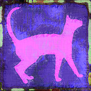 Cats Framed Prints - Abstract Cat Framed Print by David G Paul