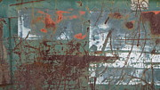 Rust Lines Framed Prints - Abstract Rust 5 Framed Print by Anita Burgermeister