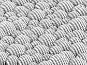 Industrial Concept Digital Art Prints - Abstract white spheres background Print by Tomislav Zivkovic