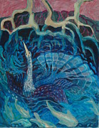 Anhinga Paintings - Abundance by Rosemary Allen