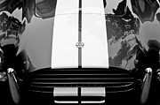 Muscle Car Framed Prints - AC Shelby Cobra Grille - Hood Emblem Framed Print by Jill Reger